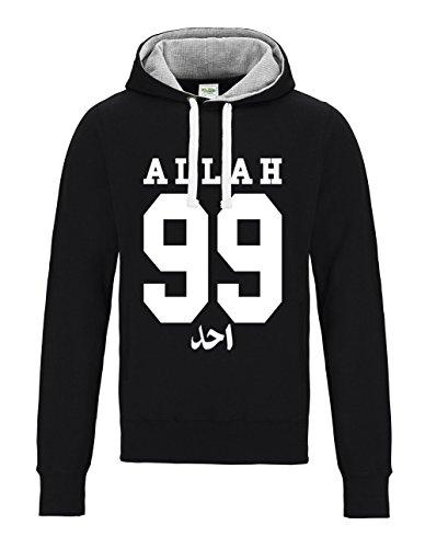 con negra One Names capucha Of 99 The sudadera Allah Ahad Tq8PBHA