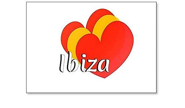 Imán para nevera con forma de corazón con los colores de la bandera nacional de España con inscripción en inglés: Amazon.es: Hogar