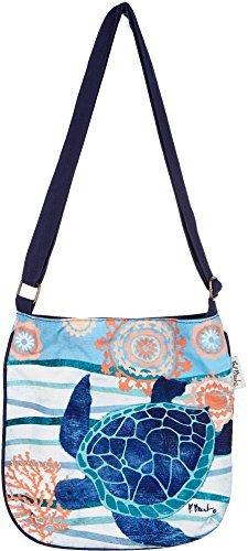 Paul Brent Seaside Turtle Crossbody Handbag One Size Blue (Turtle Purse)