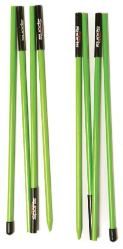 PrideSports Golf Alignment Stick (Set of 2), Lime Green - Practice Stick Golf
