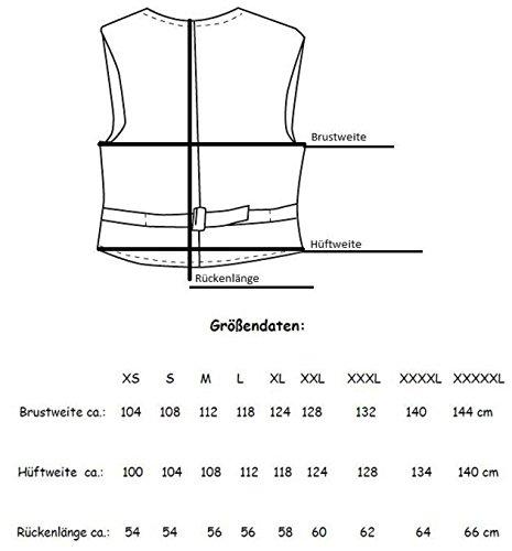 Textil Bikerweste in schwarz, Drei Metallverschlüsse, zwei aufgesetzten Taschen, ohne Seitenschnüre
