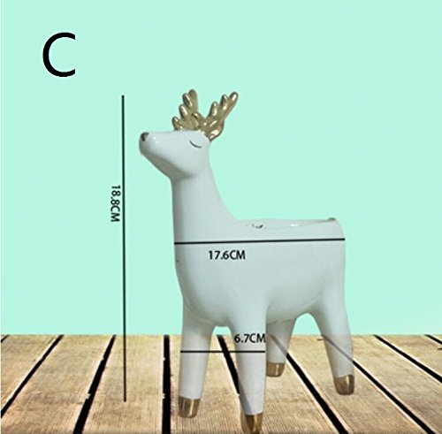 Modern minimalist fox deer hedgehog animal bowl home soft installed desktop artwork ZCL11240126 ( Color : C ) by Supper PP