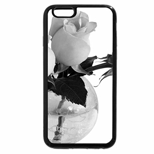 iPhone 6S Case, iPhone 6 Case (Black & White) - Three roses in a vase