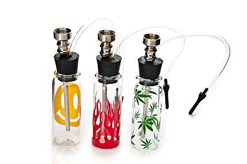 J.K LIN Bottle Water Pipe Portable Mini Hookah