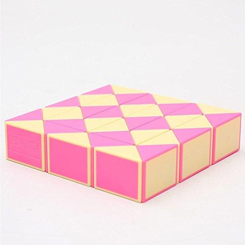Qiyun Magic Children Collection 37 Wedges Magic Ruler Creative Snake Twist Puzzle Twisty Toy Intellectual Developmentcolour:Orange white