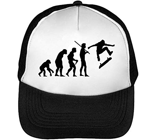 1GD Human Evolution Skating Gorras Hombre Snapback Beisbol Negro Blanco
