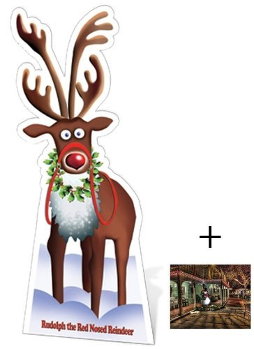 Rudolph The Red Nosed Reindeer - Christmas Cardboard 2D Standup / Cutout Plus 20x25cm Photo by BundleZ-4-FanZ Fan Packs by Starstills