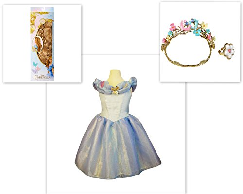 Cinderella 2015 Wig Wedding Tiara Ring & Dress