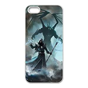 Unique Design Cases iPhone 5, 5S Cell Phone Case White elemental fallen enchantress game Evujh Printed Cover Protector