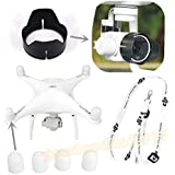 gouduoduo2018 DJI Phantom 4 Phantom 3 Camera Lens Sun Hood Cap + Motor guards + Neck strap
