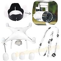 gouduoduo2018 DJI Phantom 4 Phantom 3 Camera Lens Sun Hood Cap + Motor guards + Neck strap