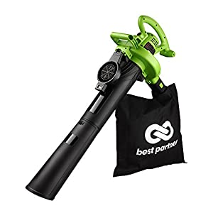 Best Partner Leaf Blower Vacuum Mulcher,Electric Corded,12Amp,2-Speed (Up To 200 Mph)