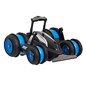 Sharper Image Fun 5-in-1 Radio Controlled Spin Drifter 360 Vehicle in Black, Drift-Style Racing Action RC Car Toys, Fast Performing Exciting Stunts, Extreme Wheelies And Awesome Drifting Maneuvers