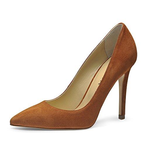 Evita Shoes Alina Escarpins Femme Daim Cognac 35 AVge9