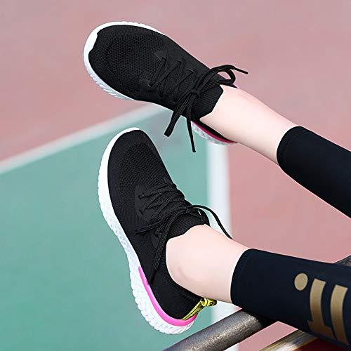 GTVERNH Frauen Schuhe Sportschuhe Fliegende Weben Sportschuhe Schuhe Netto-Schuhen Freizeit Damenschuhe. 6870de