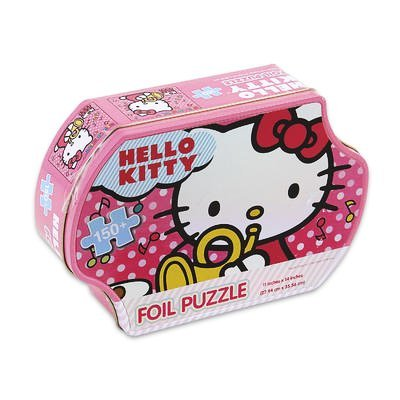 Sanrio Hello Kitty Foil Puzzle with Hello Kitty Tin Box