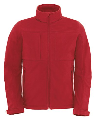 B&C Softshell Hooded Jacket Men BCJM950 / Farbe: Red /Größe: M