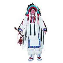 "Golden Keepsakes Collectible Heirloom Native American 48"" Porcelain Doll -Chief White"