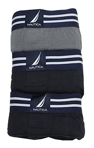 Nautica Men's 3-Pack Modal Boxer ( Pack of 3 ) Assorted Black- Large