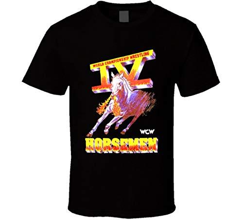 WCW Four 4 Horsemen Wrestling Legends T Shirt Black