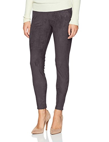 Lyssé Women's Hi Waist Suede Legging, Black, (Suede Pants Slacks)