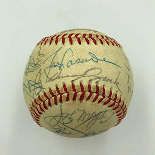 1979 All Star Game Team Signed Baseball Mike Schmidt Pete Rose Gary Carter Brock - Autographed Baseballs (1979 Mlb All Star Game)