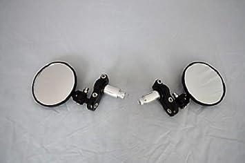 Bar End Spiegels : Set van zwarte bar end cafe racer spiegels u motozorg webstore