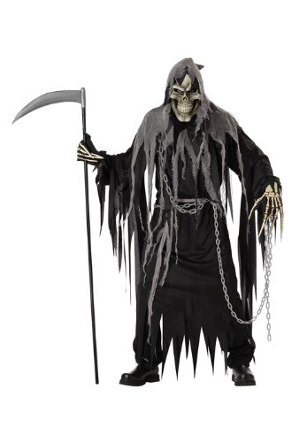 California Costumes Mr. Grim Costume, Black/Grey,One (Mr Man Costume)