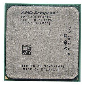 - AMD Sempron 3600+ 256KB Socket AM2 CPU