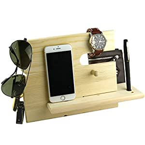 Amazon.com: Lemo hand -Wooden Phone Docking Station with