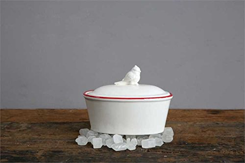 White Cardinal Finial Ceramic Ramekin - Set Of 6