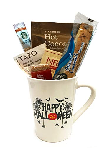 Halloween Gifts - Scary Coffee Gift Sets - Spooky Cocoa Gift Sets - Halloween Gifts for Children, Teens, Tweens, Preteens, Adults, College Students, Military (Happy Halloween) -