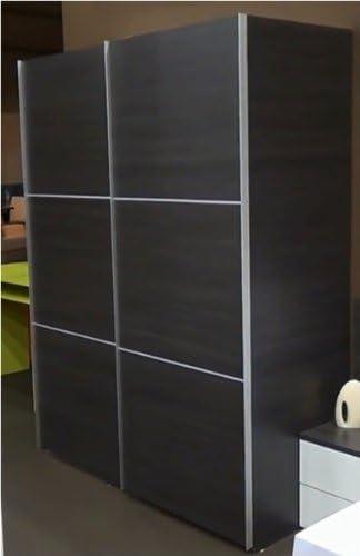 Mobimarket - Armarios baratos dos puertas correderas de 150 cms. color ceniza - Armarios baratos online: Amazon.es: Hogar