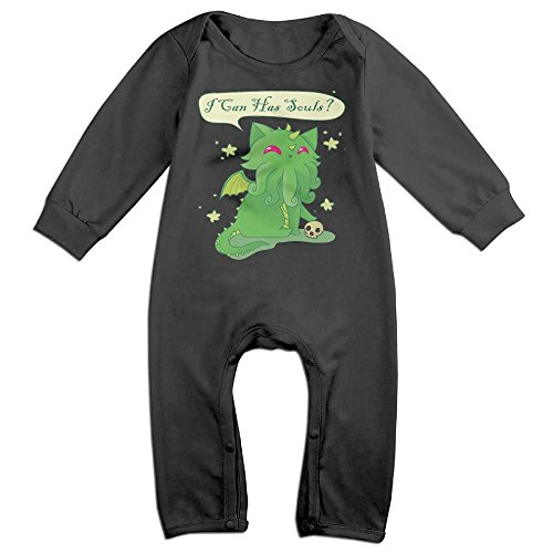 Hatted Cat Can Has Soul Cathulhu Cat Cthulhu Cute Unisex Long Sleeve Baby Bodysuit One-Piece Garment For children
