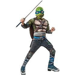 Rubie's Costume Kids Teenage Mutant Ninja Turtles 2 Deluxe Leonardo Costume, Small