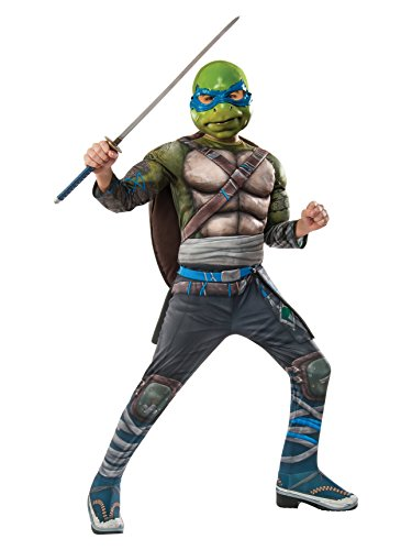 Rubie's Costume Kids Teenage Mutant Ninja Turtles 2 Deluxe Leonardo Costume, Small -