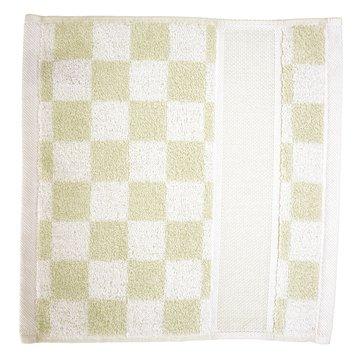 Toalla para la cara 30 x 30 diseño de cuadrados, color verde y blanco: Amazon.es: Hogar
