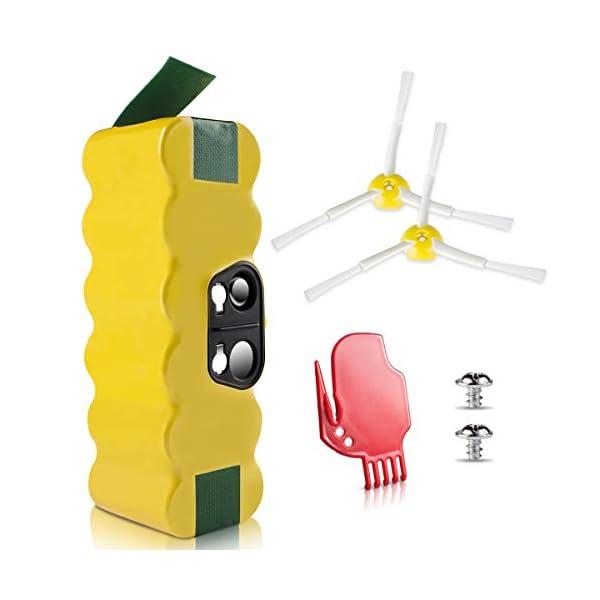 morpilot Batería de Reemplazo para iRobot Roomba, 4050mAh Ni-MH Batería Compatible con iRobot Roomba Series 500 600 700 800 900 con Accesorios de Cepillos y Atornillos 4188TAazhCL