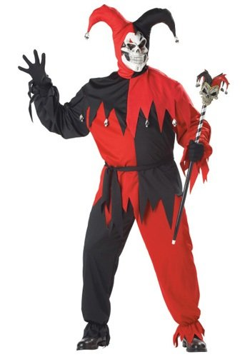 Evil Jester Adult Costume - Plus -