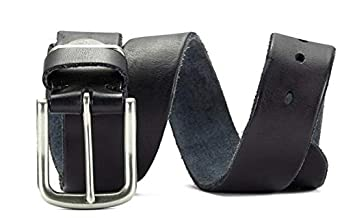 ZHANG CHENGFU Mens Leather Retro Casual Belt Top Layer Leather Pin Buckle Belt with Handmade Belt