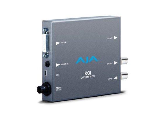 AJA ROI-DVI DVI to 3G-SDI Mini Converter with Region of Interest (ROI) Scaling