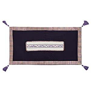 Turathna Cotton Branch Handmade Cross Stitch Contemporary Centre Piece - Purple And Lilac
