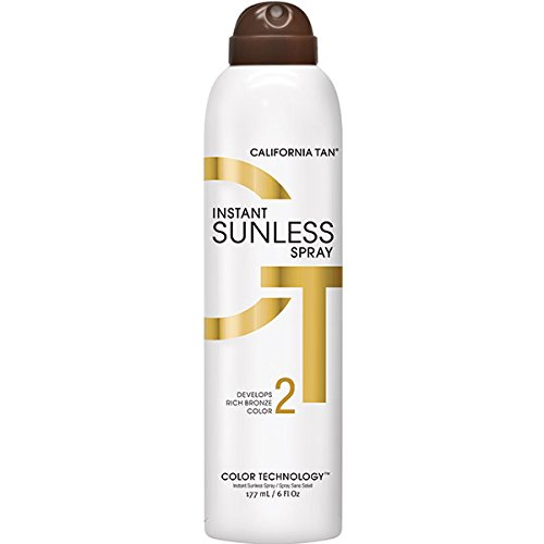 California Tan Instant Sunless Tanning Spray, Develops Rich