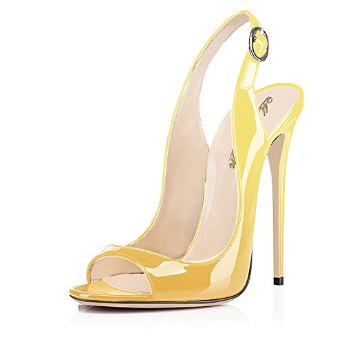 Yellow High Heel Pumps - 2