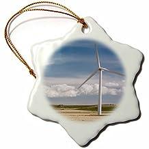 Danita Delimont - Windmills - Windmill power generation in Alberta, Canada-CN01 RKL0001 - Raymond Klass - Ornaments - 3 inch Snowflake Porcelain Ornament (orn_76311_1)