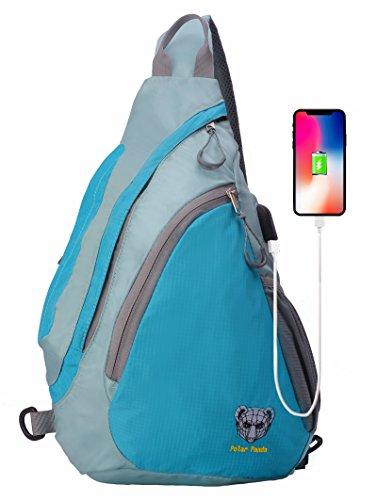 Galleon - Polar Panda Sling Backpack Crossbody Bag For Women   Men Travel  Shoulder Chest Bags One Strap Hiking   Outdoor Pack 9c3aec5ee0193