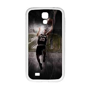 Happy SAN ANTONIO SPURS Basketball NBA White Phone Case for Samsung Galaxy S4