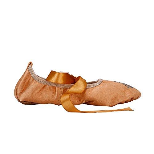 Msmax Kvinner Sateng Ballettsko Med Rhinestone Khaki Msmax Kvinner Sateng  Ballettsko Med Rhinestone Khaki ...