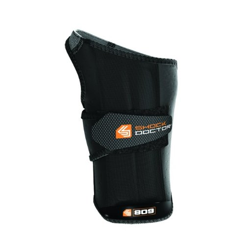 Shock Doctor Ultra Wrist Sleeve Wrap with Gripper, Black, Small, Right