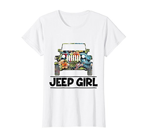 Vintage Flower Jeep Girl Shirt- Summer Funny Birthday Gift